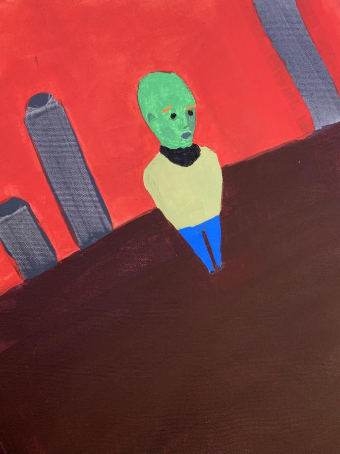 "Original Artwork: ""Alien Boy"""